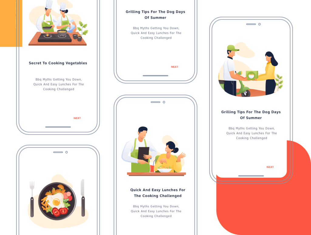 矢量扁平美食餐饮插画图书馆素材Restaurant Illustration Pack插图(5)