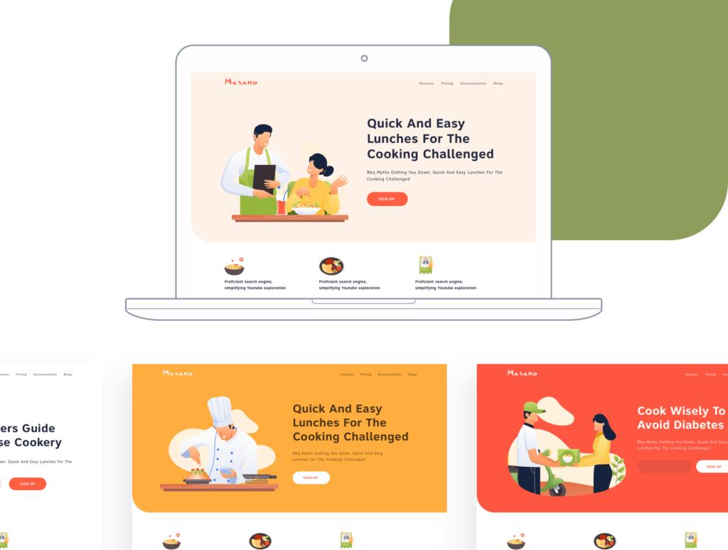 矢量扁平美食餐饮插画图书馆素材Restaurant Illustration Pack插图(6)