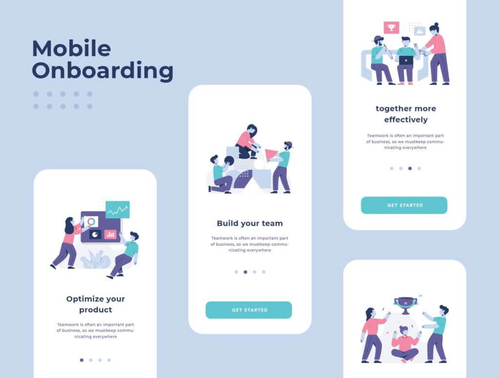 团队办公协作商务汇演扁平插图素材Teamwork Startup Illustration Pack插图(3)
