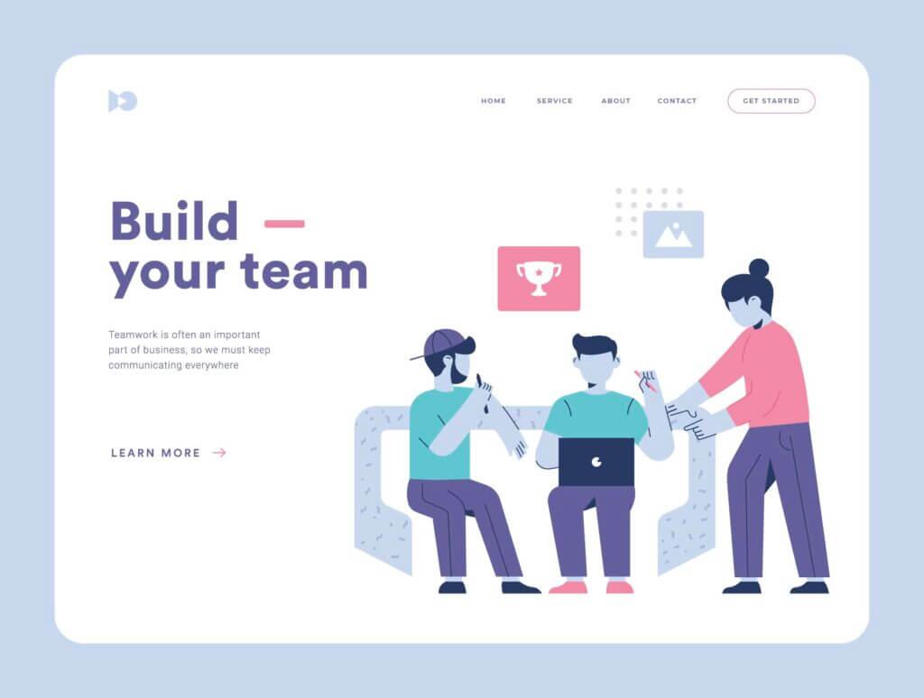 团队办公协作商务汇演扁平插图素材Teamwork Startup Illustration Pack插图(4)