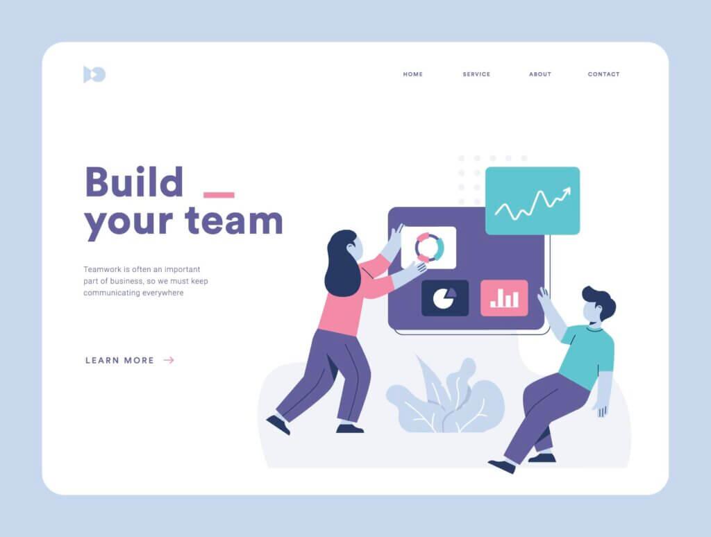 团队办公协作商务汇演扁平插图素材Teamwork Startup Illustration Pack插图(5)