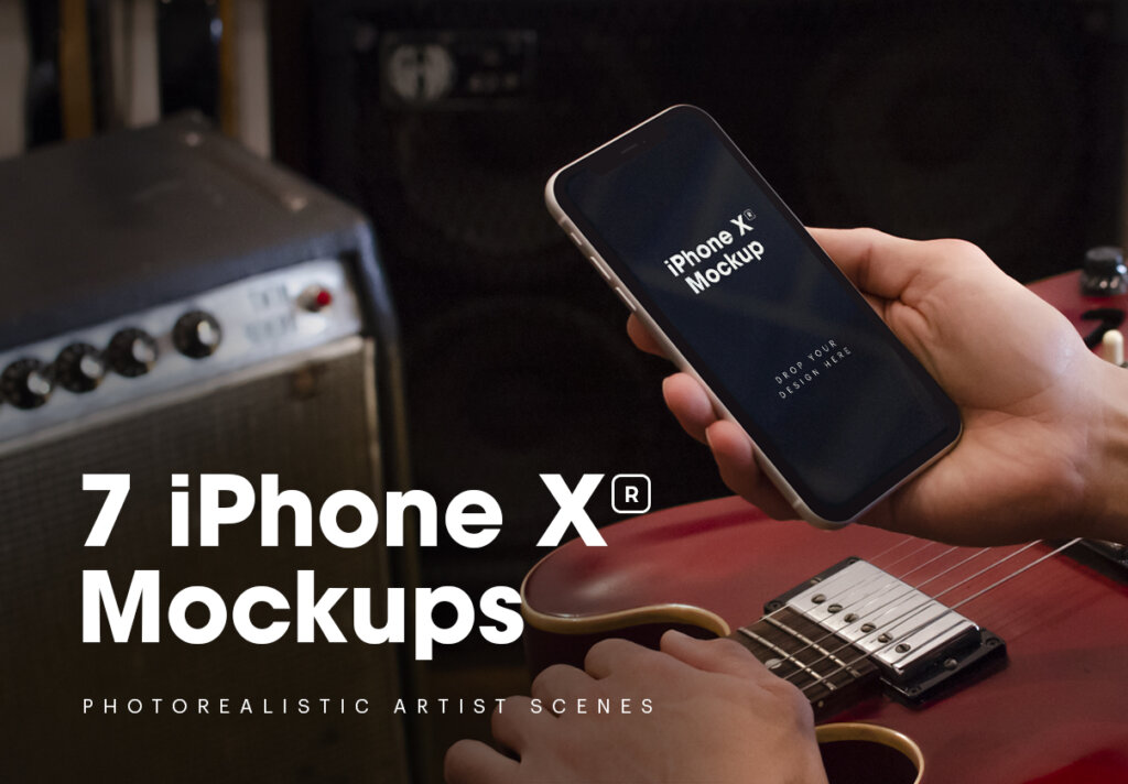 iPhone XR原型模板样机素材下载7 iPhone XR Mockups插图