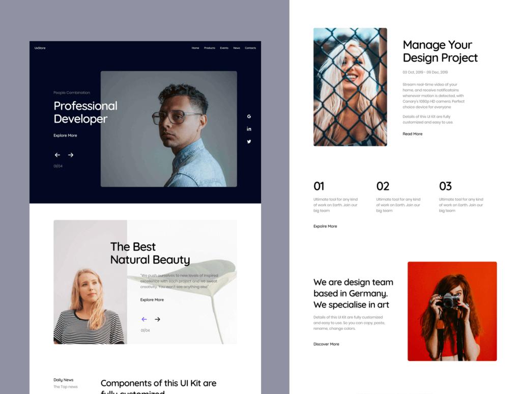 互联网公司产品官网网站模板素材UxStore Templates插图(3)