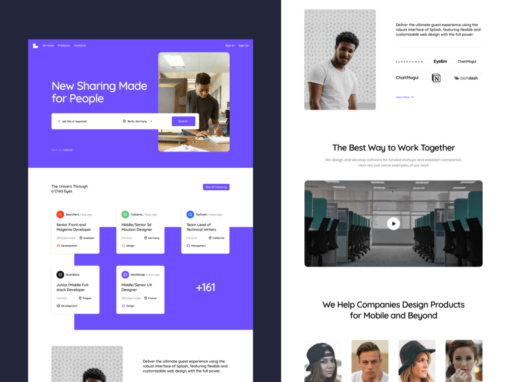 互联网公司产品官网网站模板素材UxStore Templates插图(4)