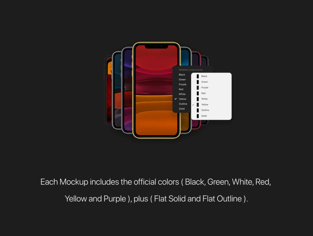 iPhone11模型手机样机素材模板iPhone 11 Mockups插图(4)