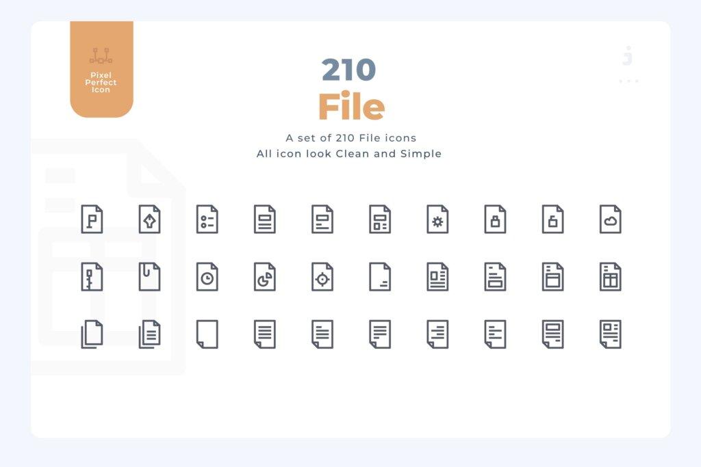 210个文件和文件图标源文件下载210 File and Document Icons – Material Icon插图