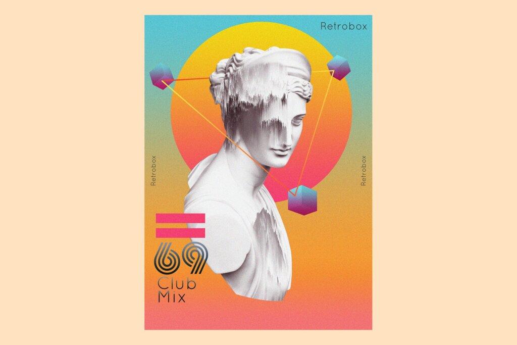俱乐部混合传单海报模版素材69 Club Mix Flyer Poster插图