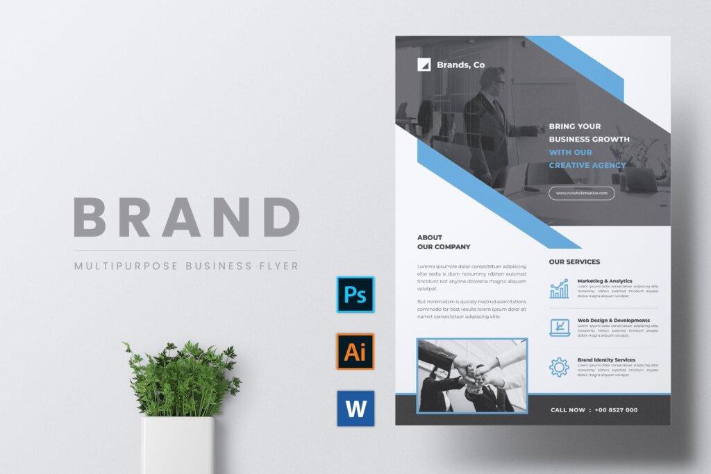 企业商务传单海报模板素材下载BRANDS插图