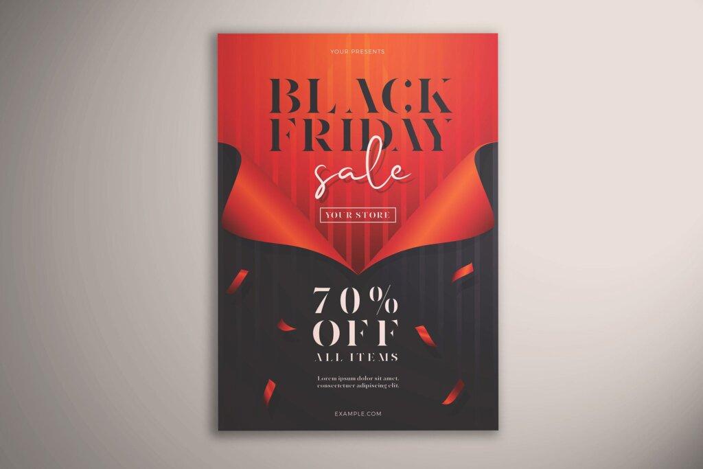 黑色星期五销售传单海报模版素材下载Black Friday Sale Flyer Vol 01插图
