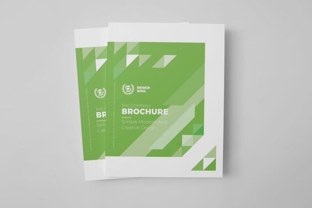 绿色环保简约杂志手册模板素材下载UXZT87插图