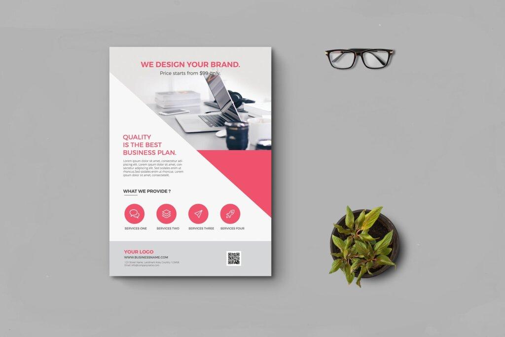商业传单产品介绍海报传单模板素材下载KHWTBD插图