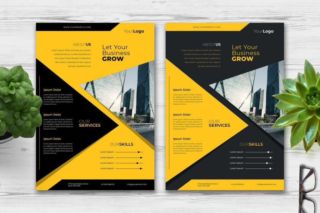 精致商务业务宣传单模板素材下载FAEQ7P5插图
