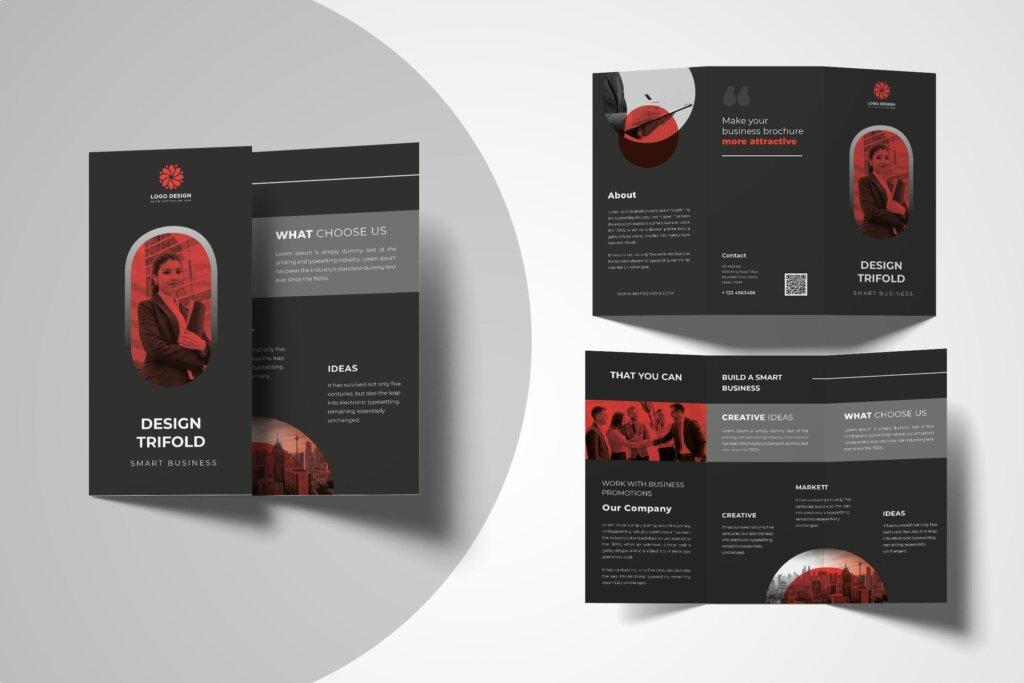 黑色简约商务宣传册模板素材下载Q8EF5KN插图