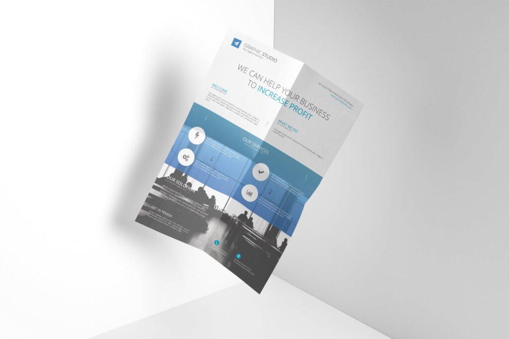 企业商务宣传擦传单海报模板素材下载Company Flyer Vol 01插图
