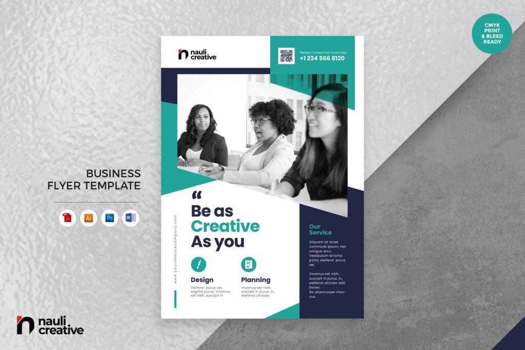 简约金融行业活动宣传活动模板素材Corporate Business Flyer AI DOC PSD Vol 19插图