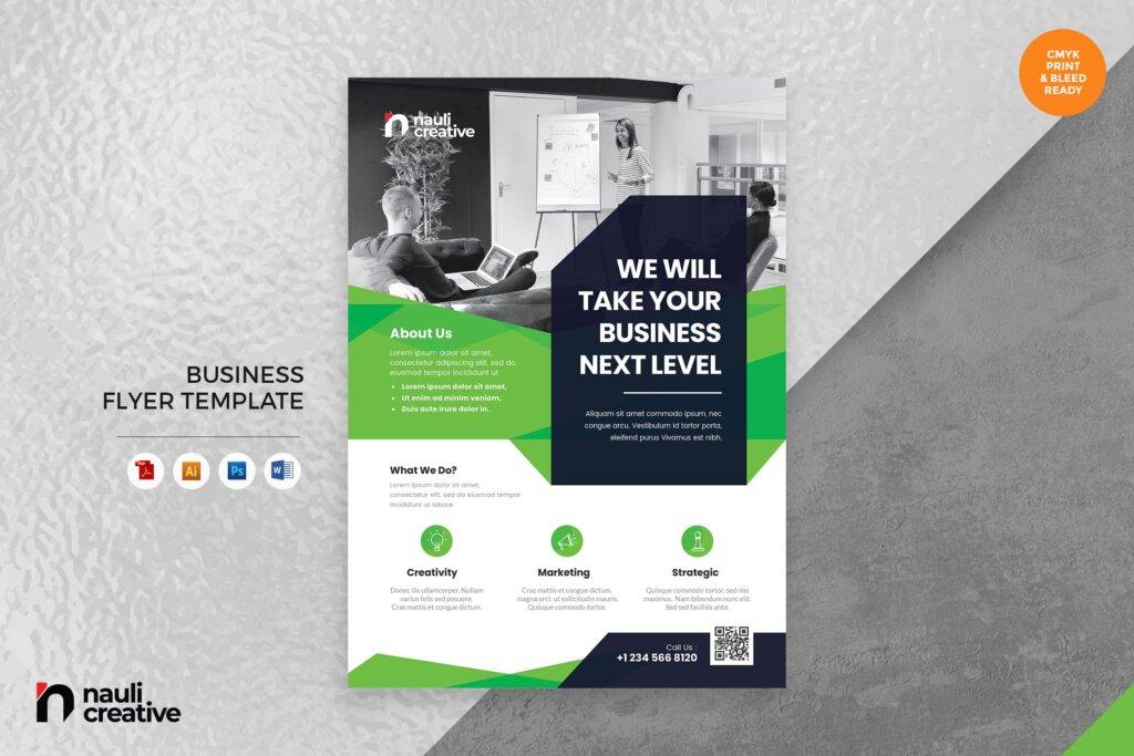 营销活动宣传活动模板素材Corporate Business Flyer AI DOC PSD Vol.25插图