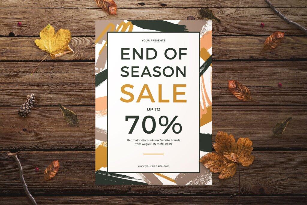 大型季末促销传单海报模板End of Season Sale Flyer插图