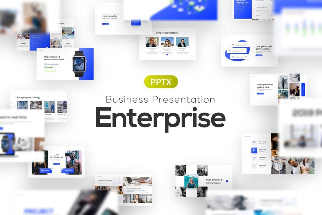 企业多种用途商务高端ppt模板素材下载Enterprise Business Corporate PowerPoint Template插图