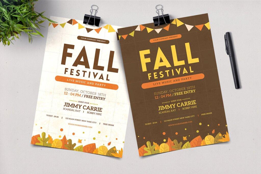 秋季节日传单海报模版素材下载9LUHU6插图
