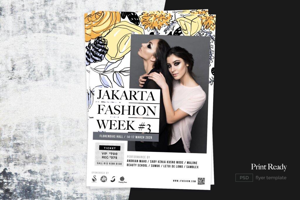 时尚美容护肤/时装店/化妆师传单海报模板素材下载Fashion Beauty Flyer插图