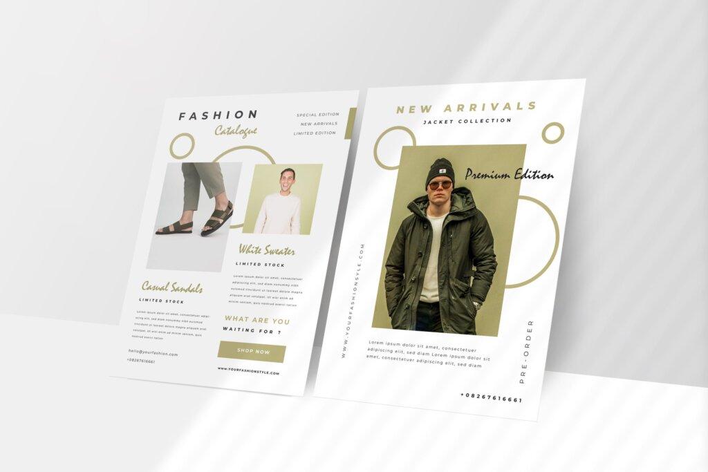时尚服装促销海报传单模版素材下载DZ9ME4插图