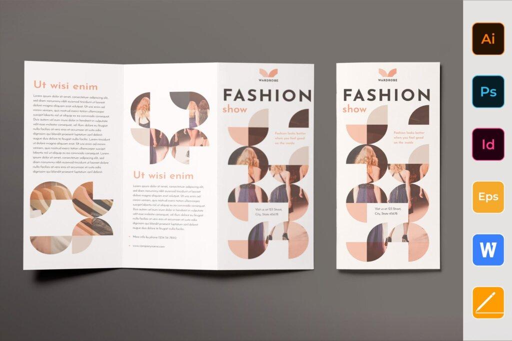 时尚企业商务折页海报折页模板素材下载57MXBWS插图