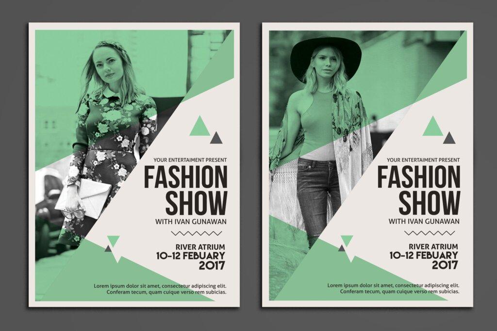 精致高端时尚服装秀海报传单模板素材下载Fashion Show Flyer 3RDJU6插图