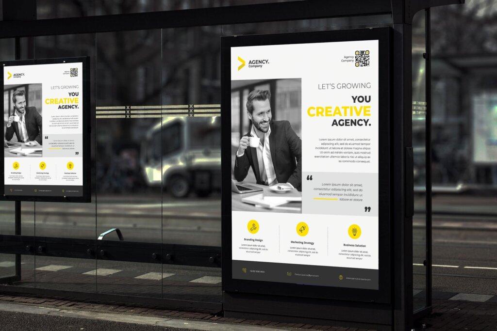 商务促销活动宣传海报传单模板素材Focus Corporate Poster TS插图