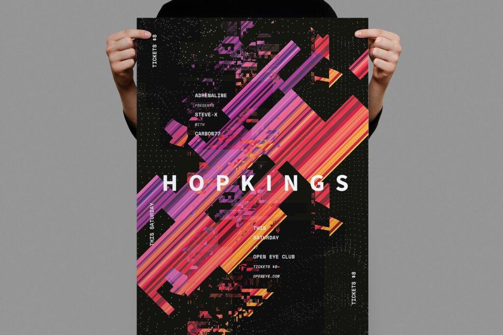 几何渐变纹理产品发布会海报传单Hopkings Poster Flyer插图