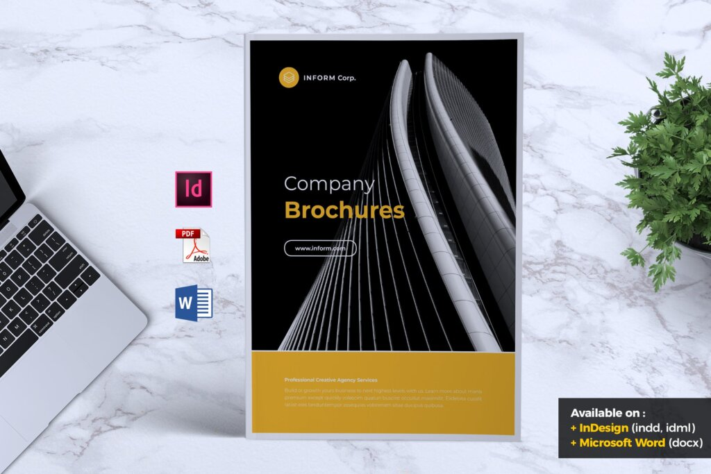 企业产品手册画册模板素材下载INFORM Company Profile Brochure插图