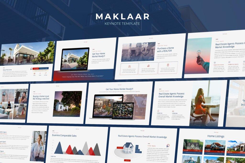 企业商业报告多用途演讲主题模板Maklaar Property Business Keynote Template插图
