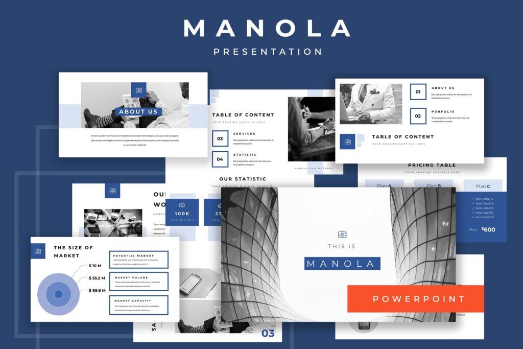 企业融资策划提案幻灯片PPT模版下载Manola Pitch Deck Powerpoint Presentation插图
