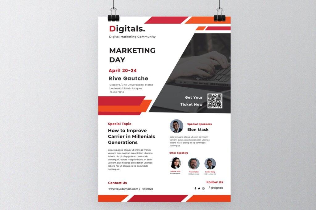 音乐会商务推广活动传单印象活动传单海报模板素材下载Marketing Events Business Flyer插图