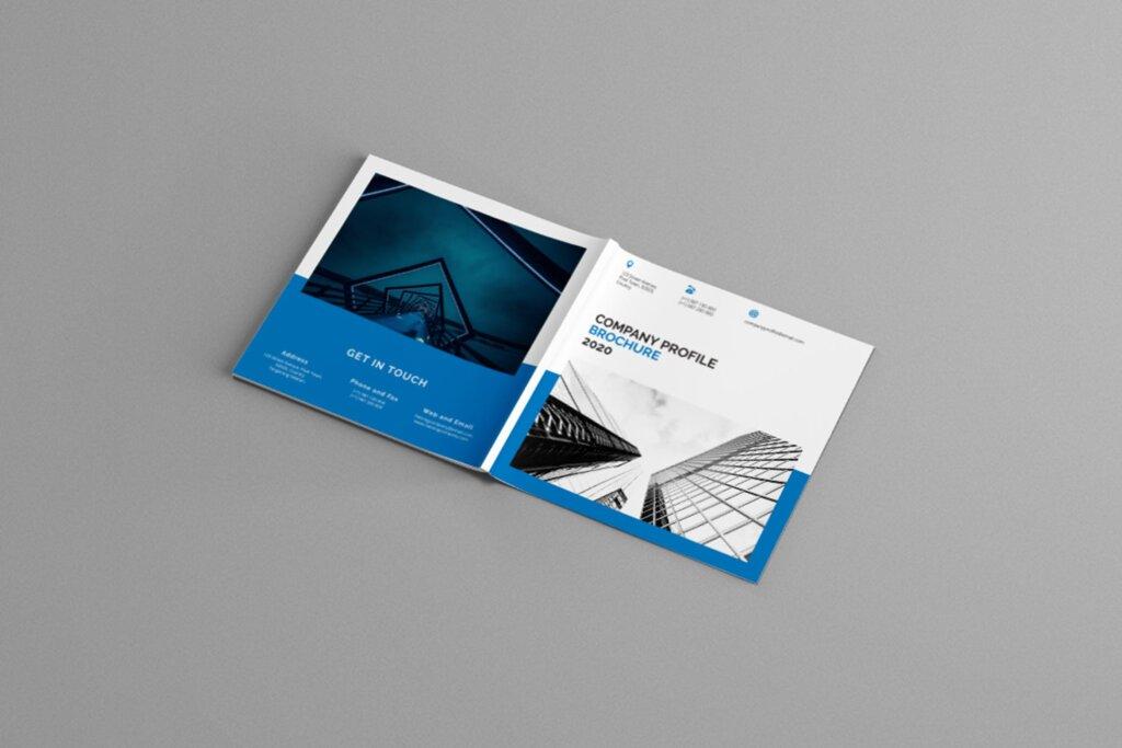 公司简介品牌宣传小册子模板素材Mavka Square Company Profile Brochure Template插图