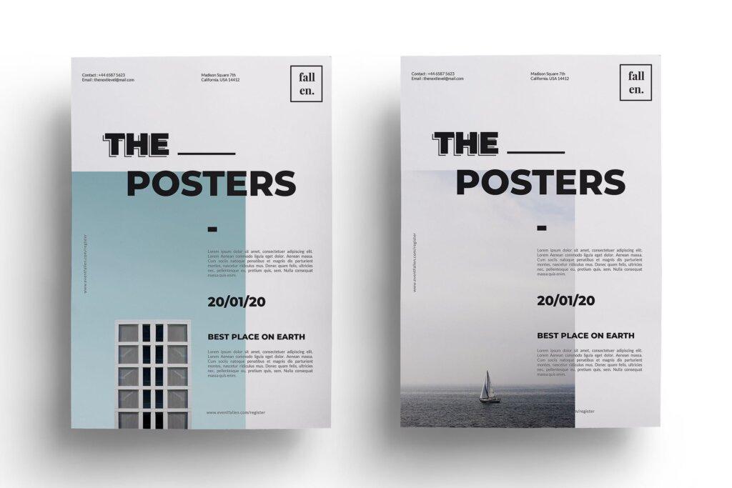简约设计设计讲座/用户体验大会海报传单模板Minimal Event Flyer 3W6EW94插图