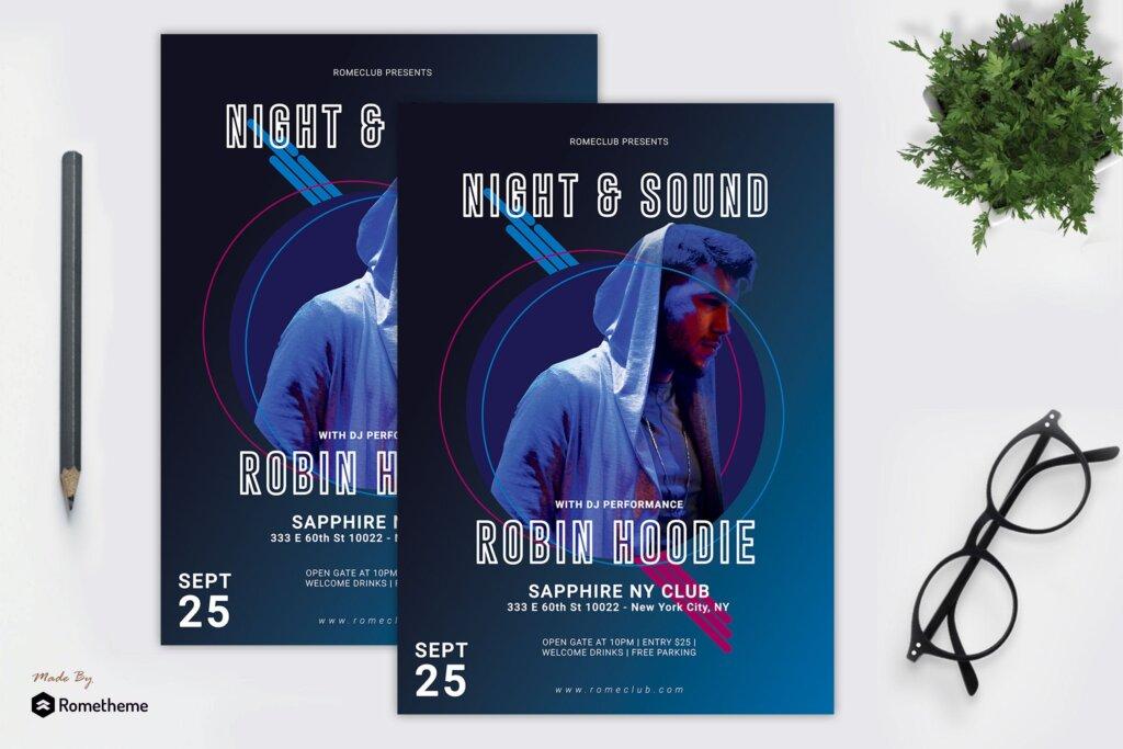 个人音乐演唱会传单海报模板Music Flyer vol 05 RY插图