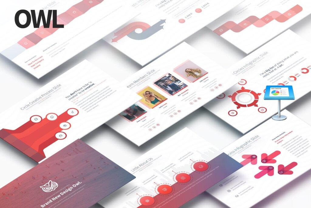 数据演示多用途的主题演讲幻灯片模版素材Owl Multipurpose Keynote Presentation插图