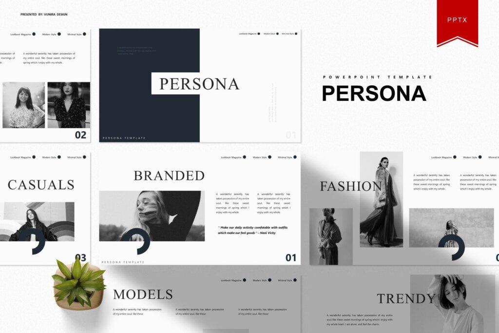 企业市场策划模板幻灯片PPT模板素材xiaPersona Powerpoint Template插图