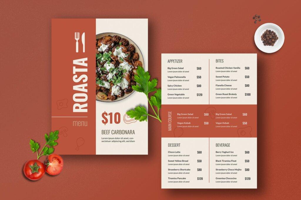 咖啡厅菜单传单海波模板素材下载D4YSCK9插图