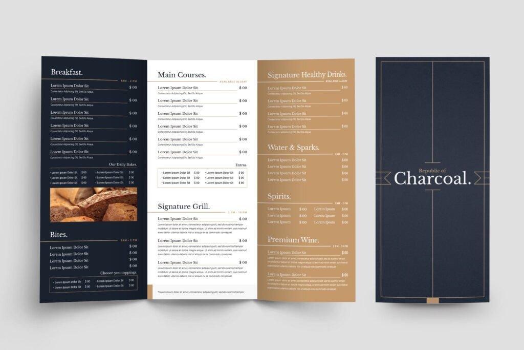 西餐美食餐饮料理菜单模板素材下载2J9RPDZ插图
