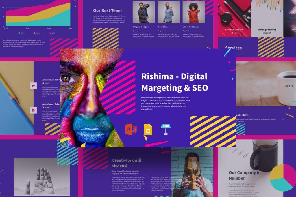 高端渐变风格时尚行业销售策划提案幻灯片PPT模版Rishima Digital Marketing SEO Presentation插图