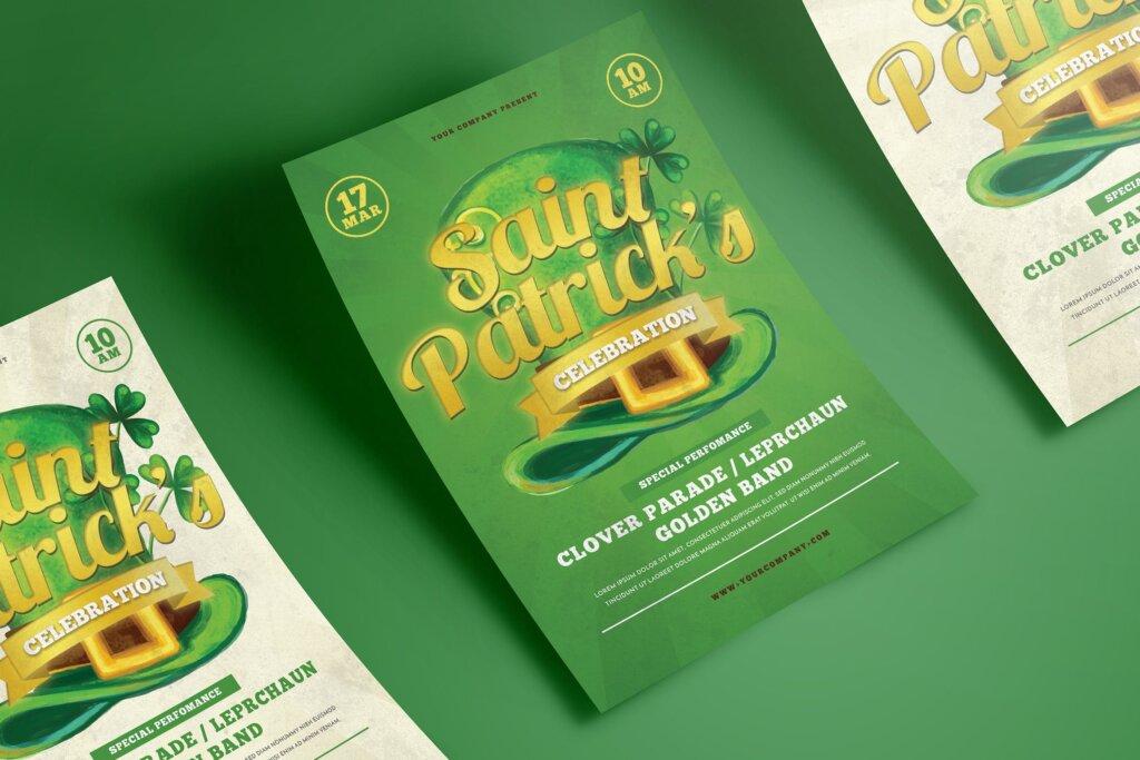 夏日啤酒派对传单海报模板素材Saint Patrick Celebration 5K976L插图