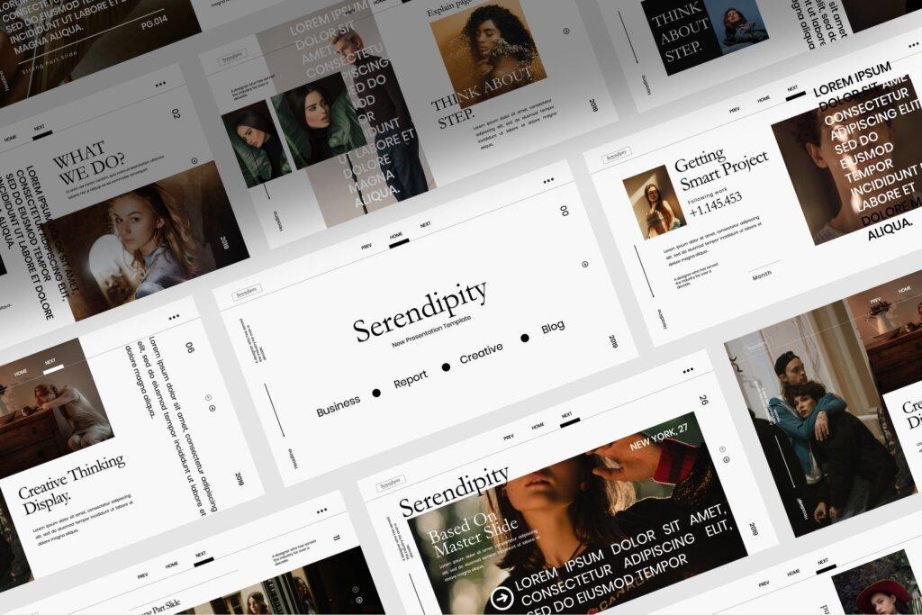 企业商务汇演素材PPT幻灯片模板Serendipity Modern Fashion Design Powerpoint插图