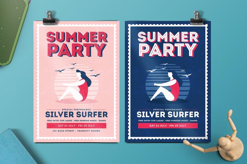 夏日派对海报素材模板Summer Vibe Flyer 6HENQQ插图
