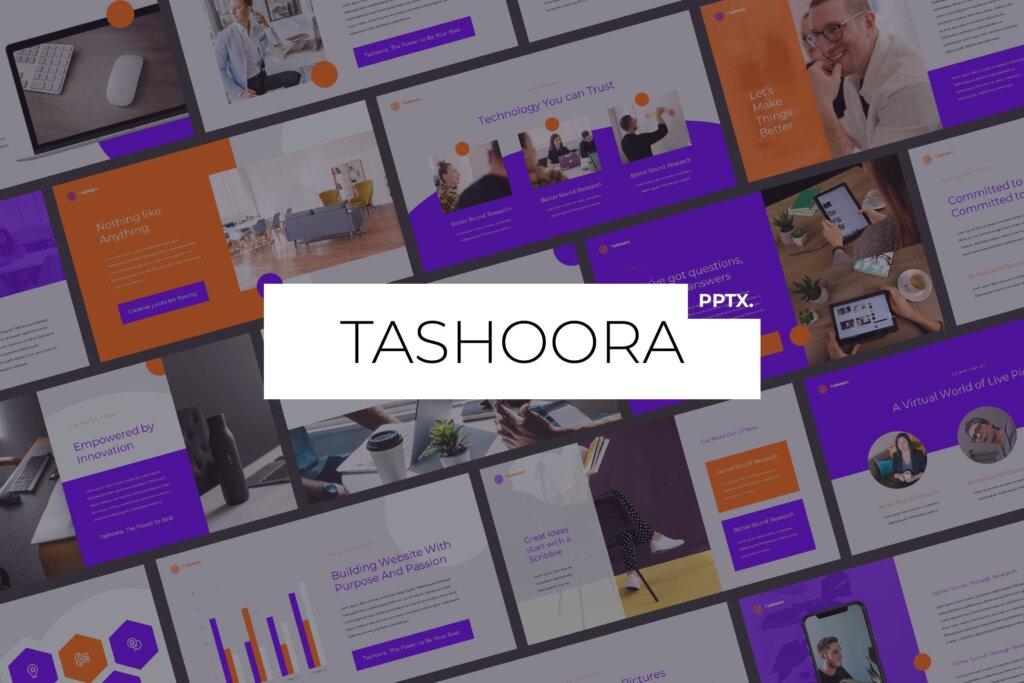企业融资招股书幻灯片PPT模版下载Tashoora Creative Powerpoint Template插图