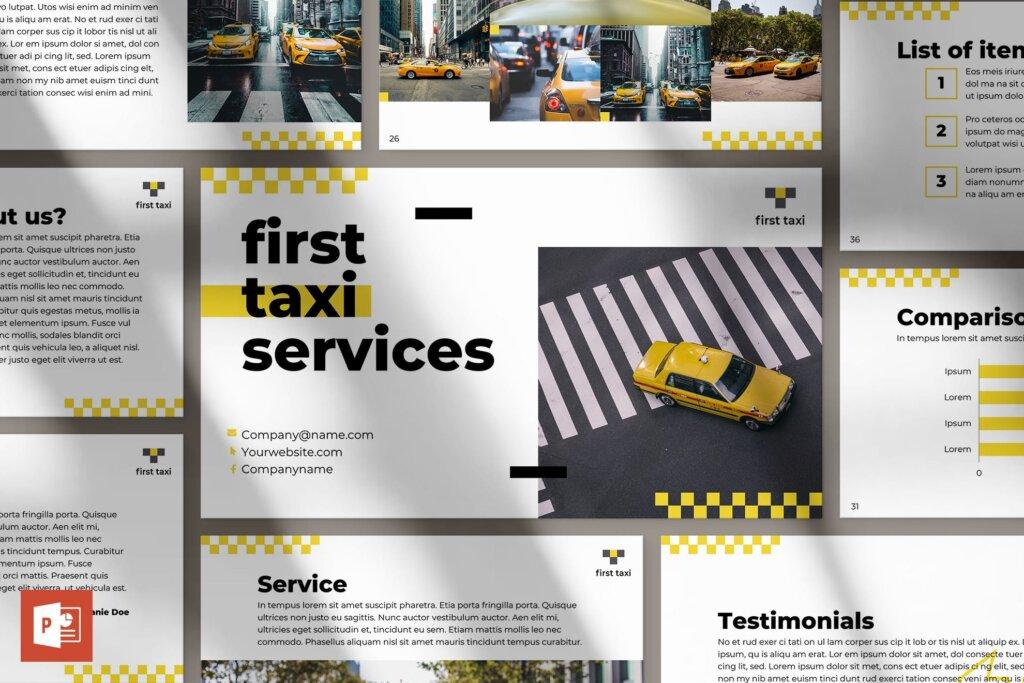 出租车行业数据大调查数据汇报幻灯片PPT模版Taxi Services PowerPoint Presentation Template插图