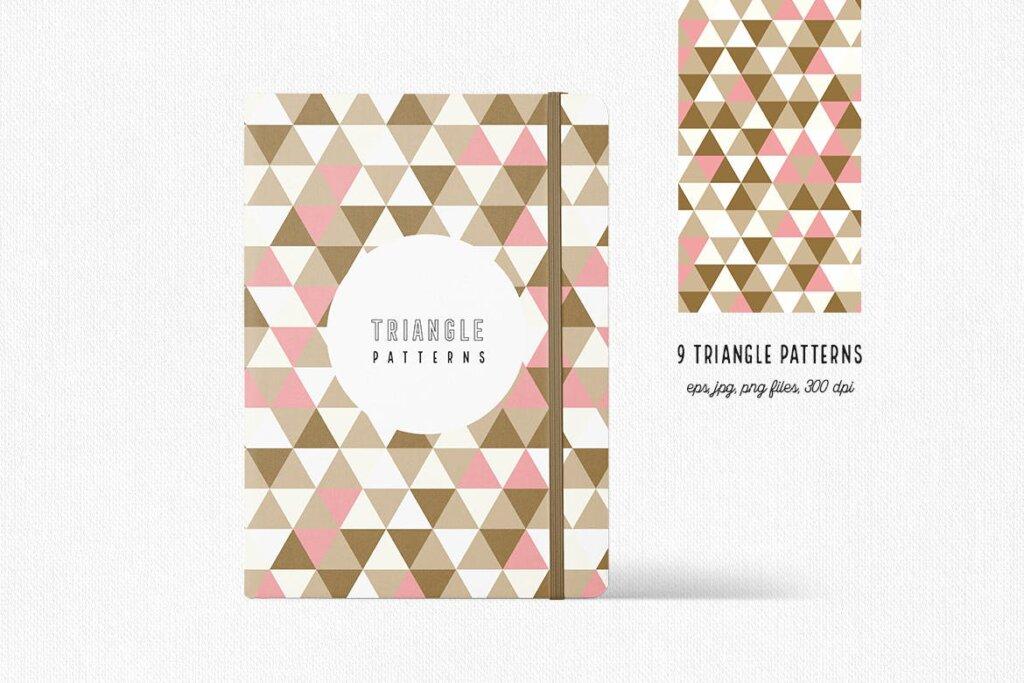 三角形平面构成图形图案纹理素材/品牌购物几何图形肌理图形纹理素材Triangle Patterns插图