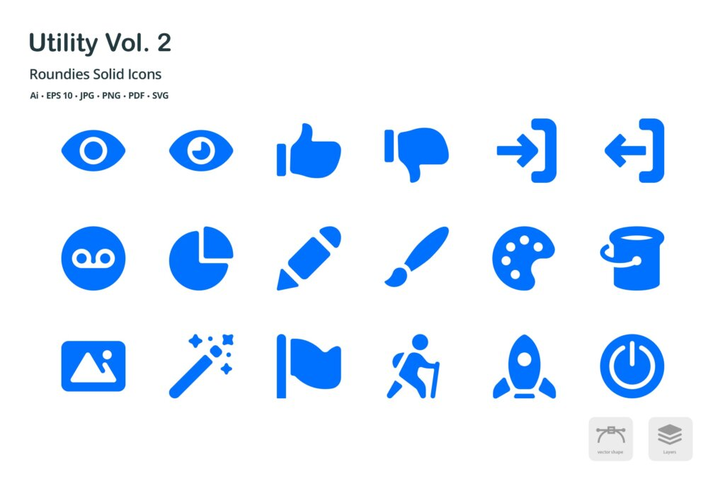 系统实用工具线性图标源文件Utility Vol 2 Roundies Solid Glyph Icons插图(1)