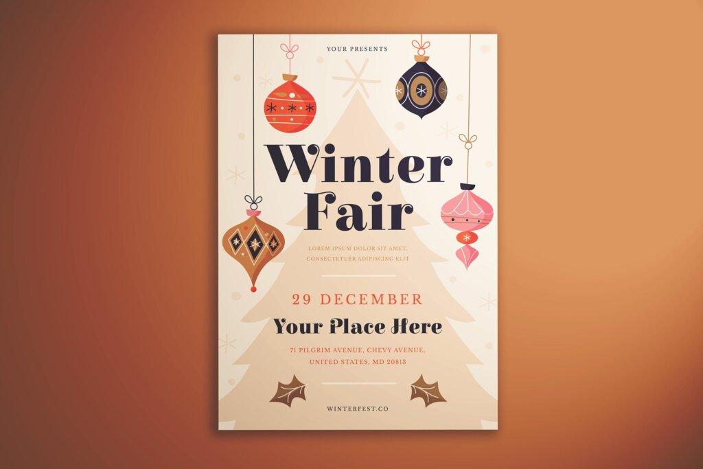 冬季展览会传单海报模板素材下载7PF2P3H插图