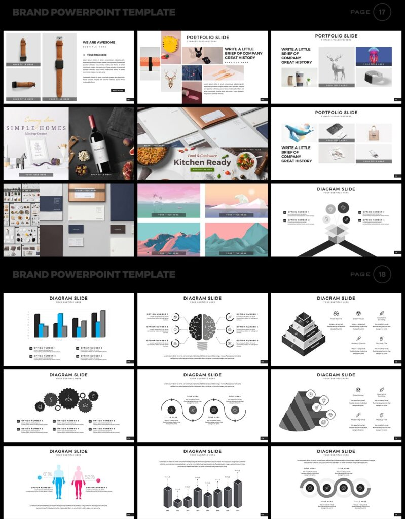 美食品牌幻灯片PPT模板素材下载Brand PowerPoint Presentation Template插图(9)